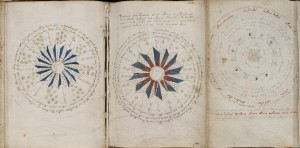 Voynich Manuscript, f68v1 placed next to f67r1 placed next to f67r2